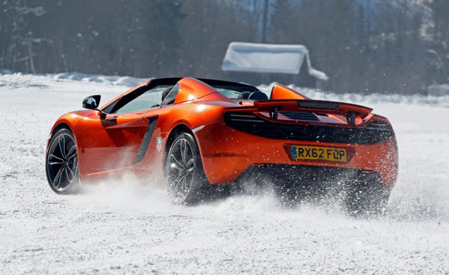 McLaren MP4-12C Takes on Winter – Photo Gallery