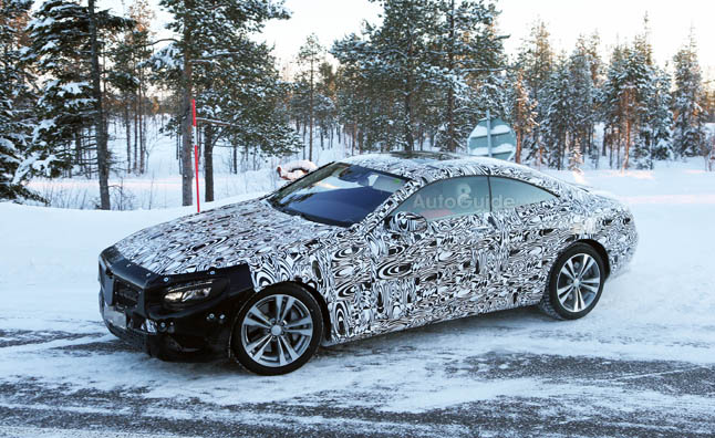 2015 Mercedes S-Class Coupe Spied Winter Testing