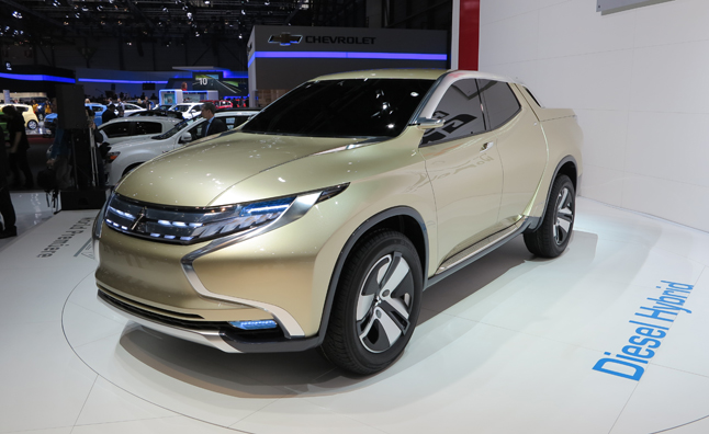 Mitsubishi GR-HEV Concept Unveiled as a Diesel-Hybrid Heavy-Duty Pickup