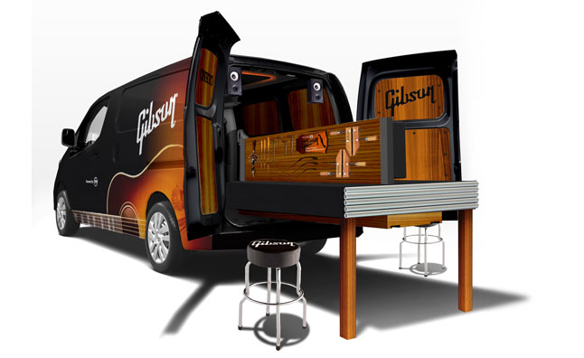 Nissan, Gibson Build Mobile Guitar Workshop