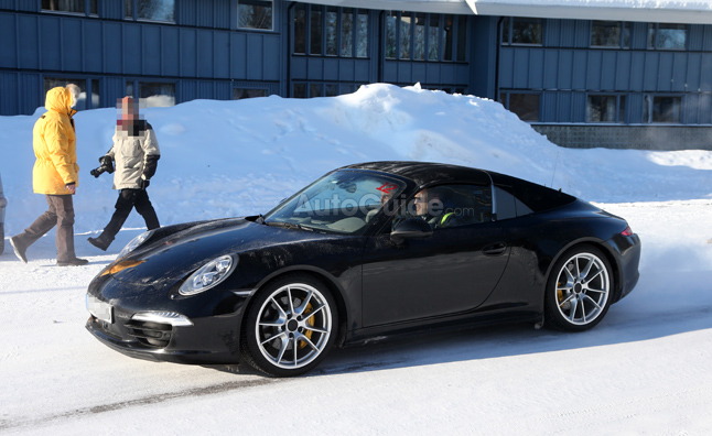 2014 Porsche 911 Targa Spied Catching Some Sun