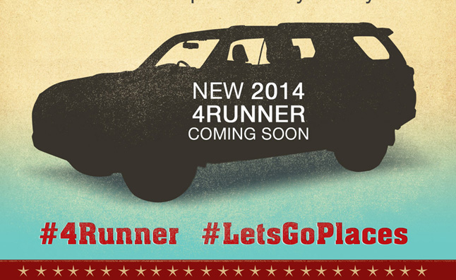 2014 Toyota 4Runner Teased Again in Infographic