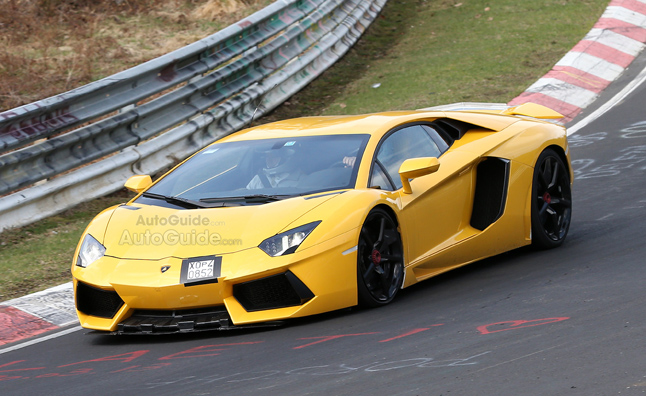 Lamborghini Aventador Spied Nurburgring Testing With Upgrades