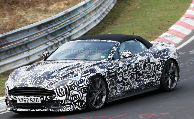 Aston Martin Vanquish Volante Spied on Nurburgring
