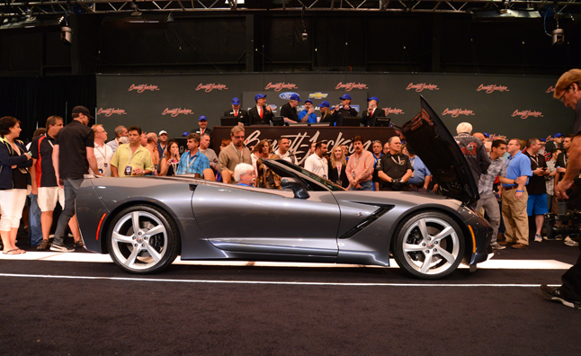 First Chevrolet Corvette Stingray Convertible Fetches $1M at Barrett-Jackson Auction