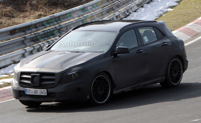 Mercedes GLA 45 AMG Spied Lapping the 'Ring'