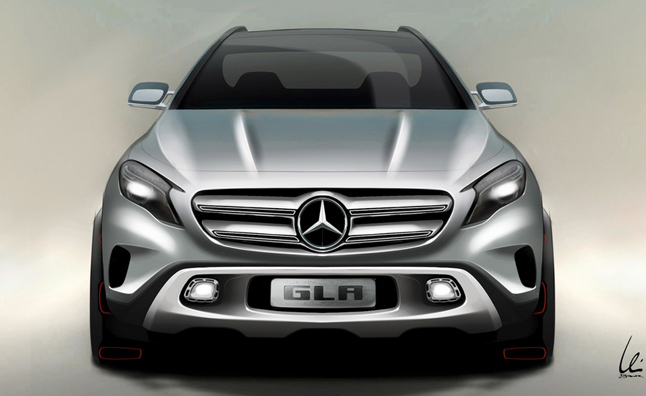 Mercedes GLA First Official Sketch Released