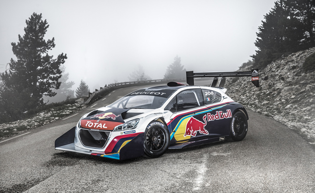 Peugeot Pikes Peak Racer Tested in Southern France