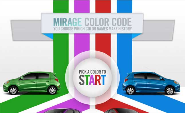 Vote to Name the 2014 Mitsubishi Mirage Colors