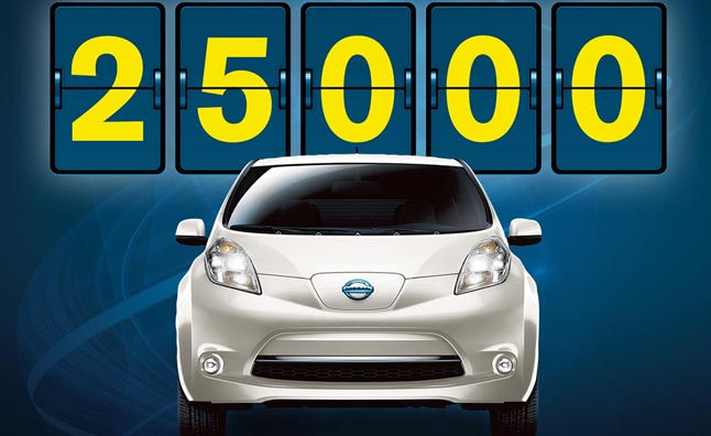 Nissan Leaf Sales Crest 25,000 in US