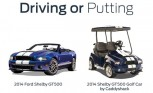 2014 Shelby GT500 Golf Cart is the Perfect Complement to Your Actual GT500