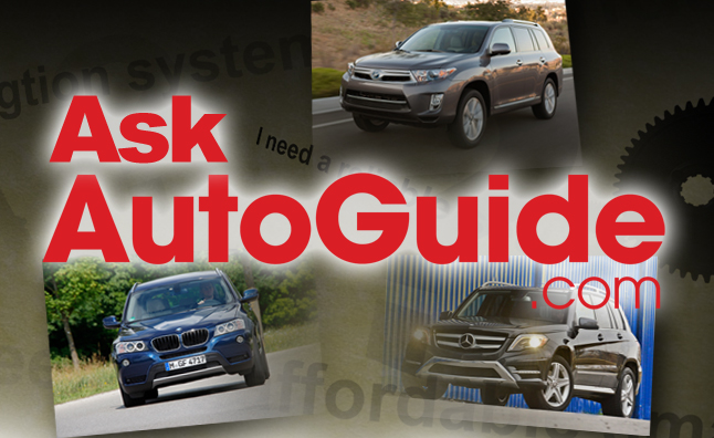 Ask AutoGuide No. 13 – BMW X3 vs. Mercedes-Benz GLK250 vs. Toyota Highlander Hybrid