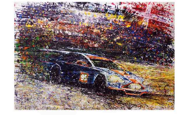 Aston Martin Racer Allan Simonsen Honored in Painting