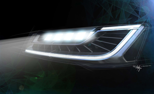 2014 Audi A8 Adding New Matrix LED Headlights