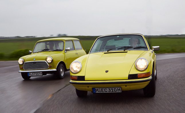 MINI Congratulates Porsche 911 on its 50th Birthday – Mega Gallery