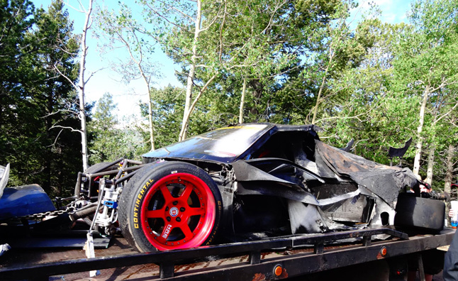 LoveFab Acura NSX Destroyed in Pikes Peak Testing
