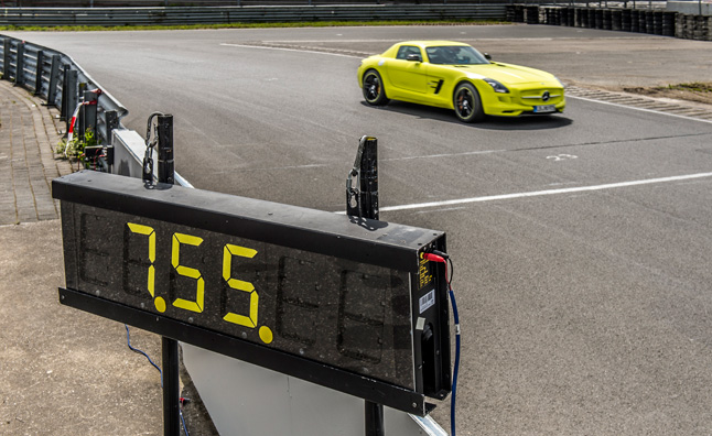 Mercedes SLS AMG Electric Drive Sets EV Nurburgring Record