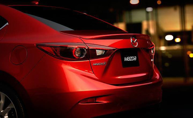 2014 Mazda3 Sedan Rear End Leaked