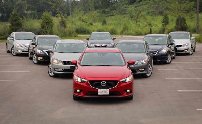 mid-size family sedan comparison 2013 2014