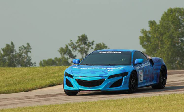 Acura NSX Teased Ahead of Mid-Ohio Dynamic Debut