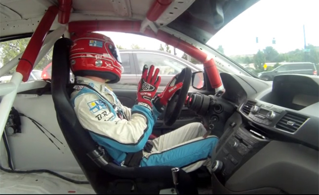 Watch IndyCar's Simon Pagenaud Take a Honda Odyssey Pikes Peak Racer to McDonald's