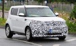 Electric Kia Soul Prototype Spied Testing in Europe