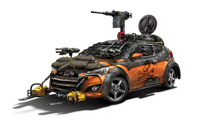Hyundai Veloster Zombie Survival Machine Debuts at SDCC