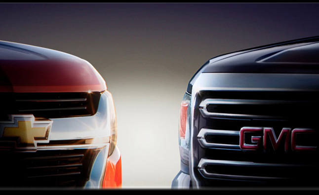 2015 Chevrolet Colorado, GMC Canyon Teased