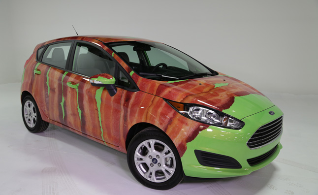 Bacon-wrapped Ford Fiesta