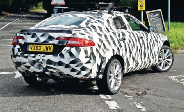 Jaguar QX Crossover Spy Photo Reveals a Swoopy SUV
