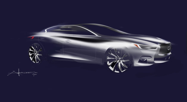 Infiniti Q90 Flagship Sedan Sketch Leaked