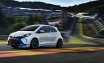 Toyota Yaris Hybrid R Concept Hits the Track at Spa