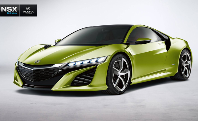 Custom Paint Your Own Acura NSX