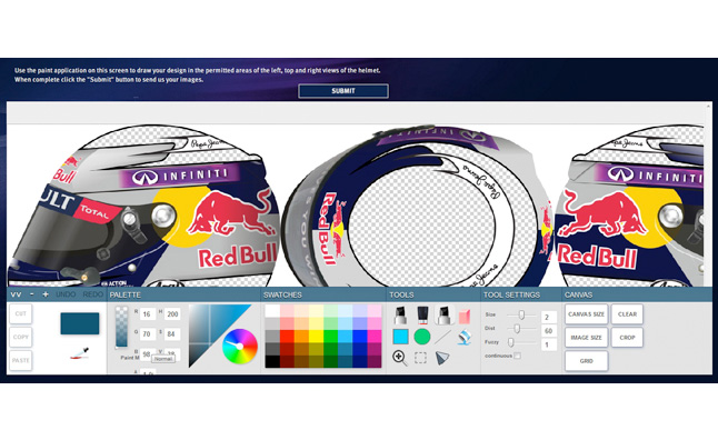Infiniti Launches Contest to Design Sebastian Vettel's Helmet
