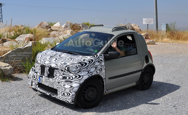 Next-Generation Smart ForTwo Spied Testing