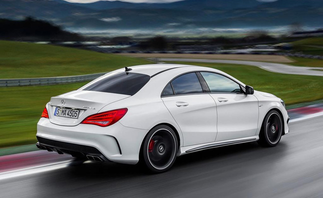 2014-Mercedes-CLA45-AMG-riving-away