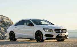 mercedes cla45 amg white