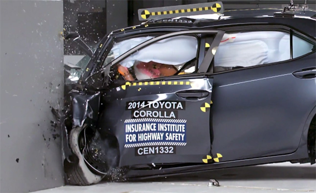 "2014 Toyota Corolla Earns ""Marginal"" Rating in Tough New Crash Test"