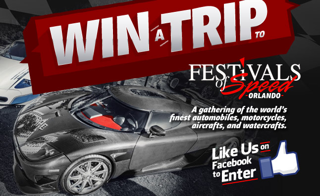 Win a Trip to the Festivals of Speed, Orlando