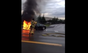 Tesla Model S Catches Fire, Video Spurs Drop in Stock Value