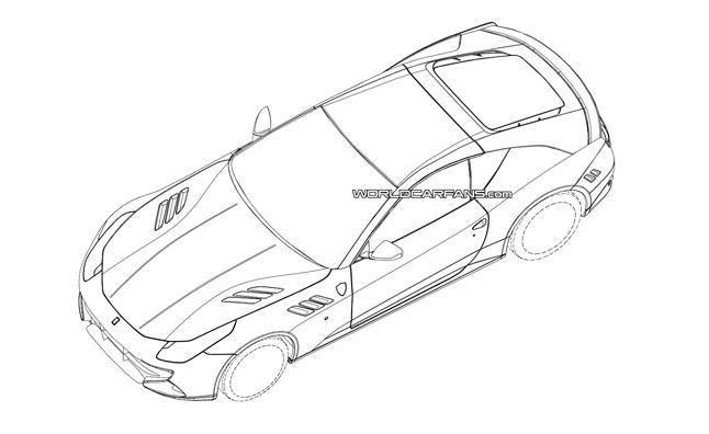 Mystery Ferrari Tipped in Patent Drawings