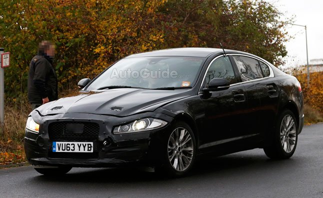 Jaguar XF Mule Spied Testing Near the Nürburgring