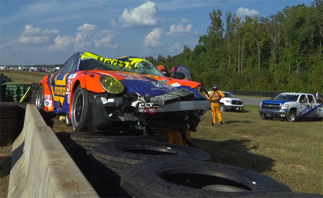 Watch a Spectacular Crash from the ALMS Race at VIR – Video