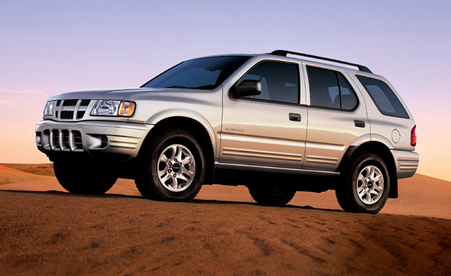 Isuzu SUVs Recalled for Suspension Corrosion