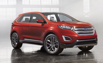 2015 Ford Edge Concept First Look Video: 2013 LA Auto Show