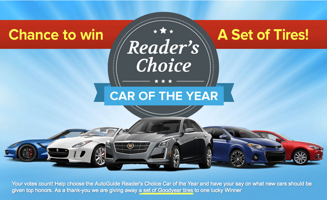 Vote in the AutoGuide.com Reader's Choice Car of the Year Awards
