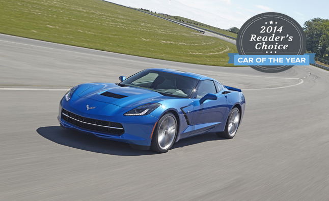 2014 corvette reader's choice car of the year