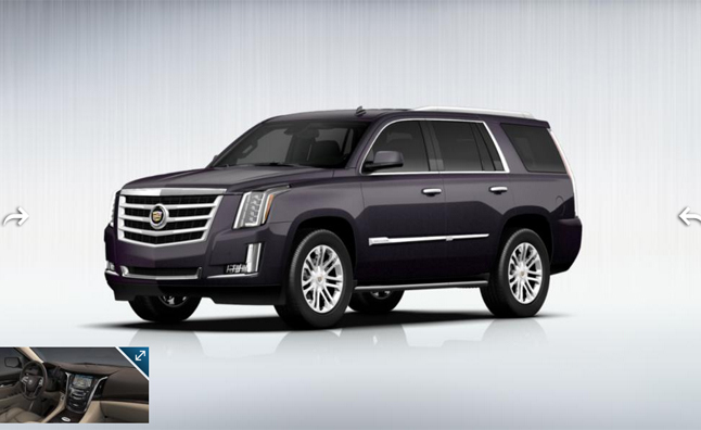 2015 Cadillac Escalade Details Revealed in Configurator