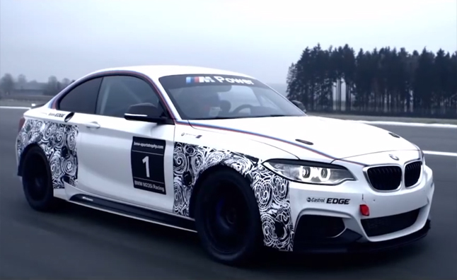 BMW M235i Race Car Shown Off in New Video