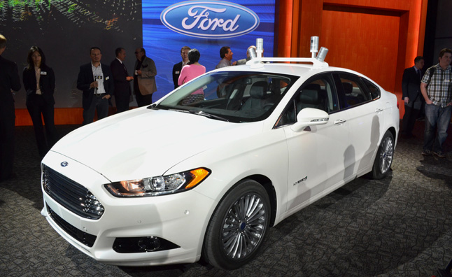 Ford Unveils Self-Driving Fusion Hybrid Research Vehicle